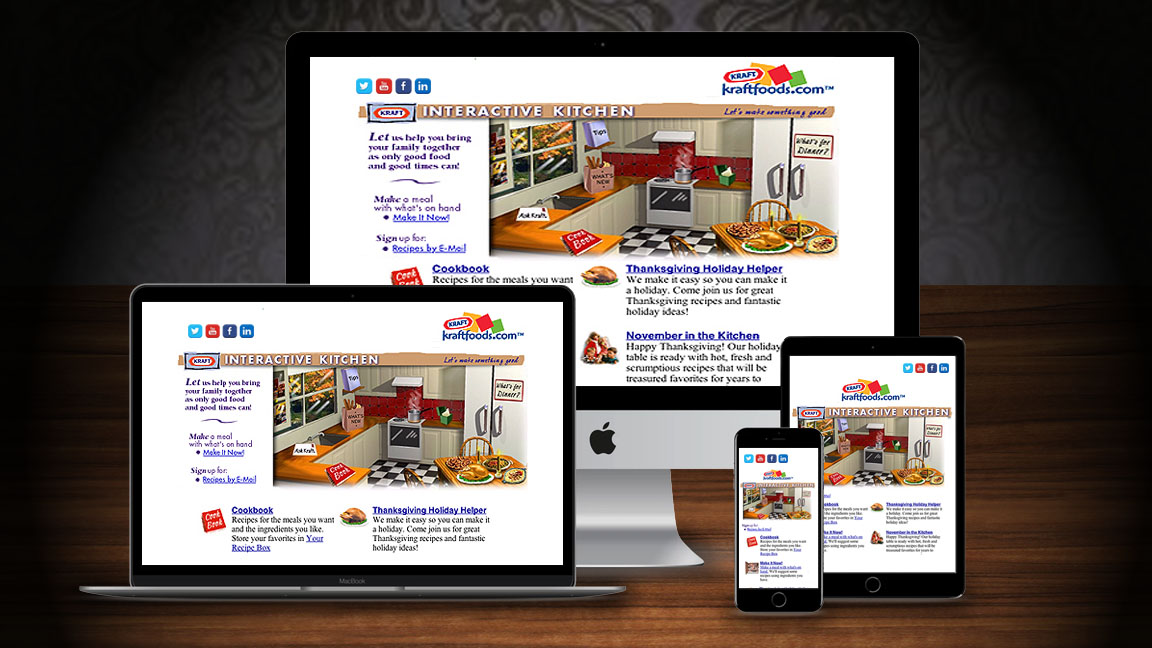 "Kraftfoods.com Website: Design, Production, Animated and Still Graphics... Seasonal ""Kitchen Redesigns"" by JS Enterprises / Cybergoal.com Multimedia Interactive Creative Services & Marketing"