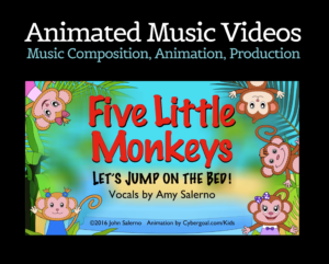 Five Little Monkeys – Children's Animated Music Video