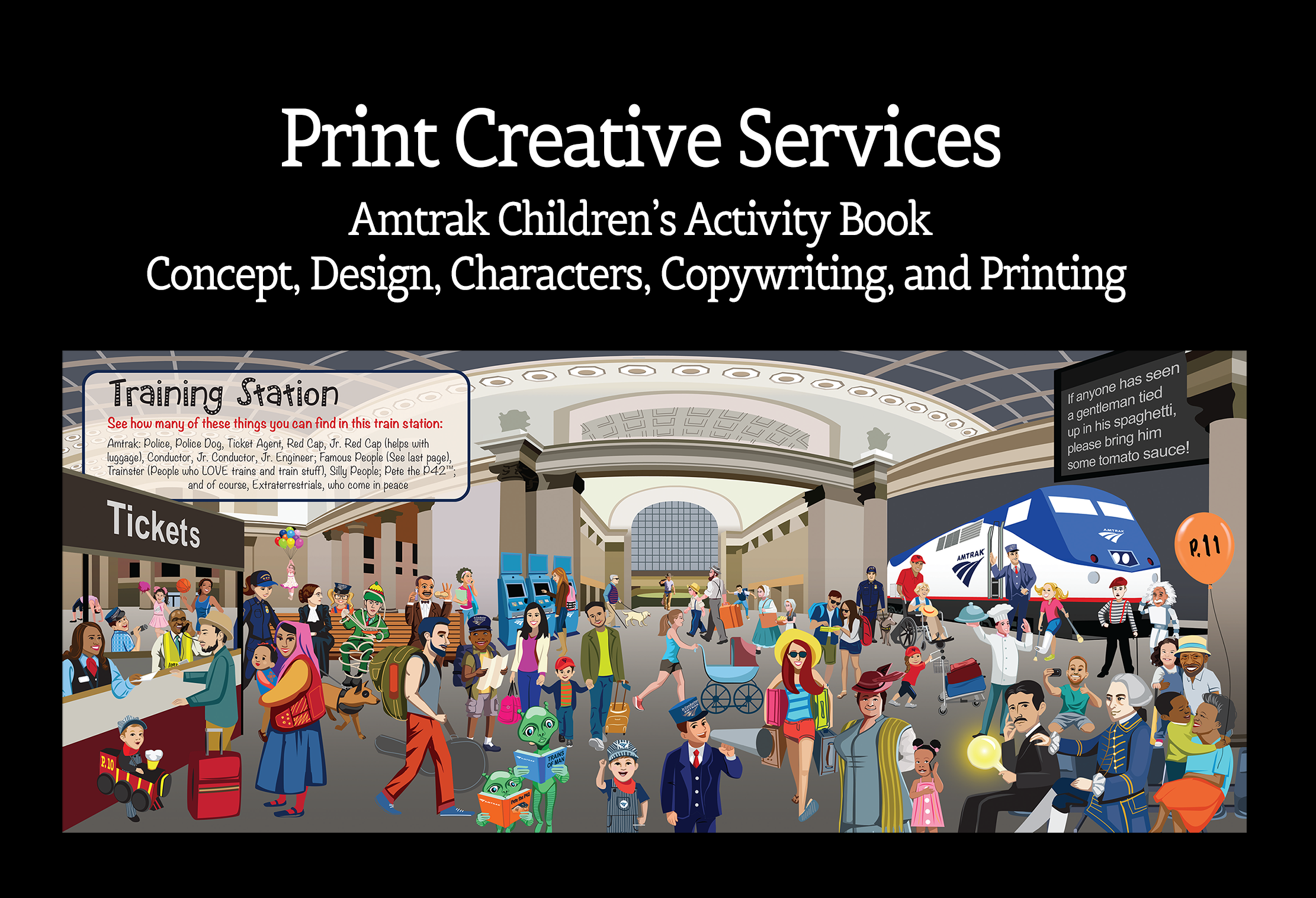 JS Enterprises Print Creative Services for Amtrak