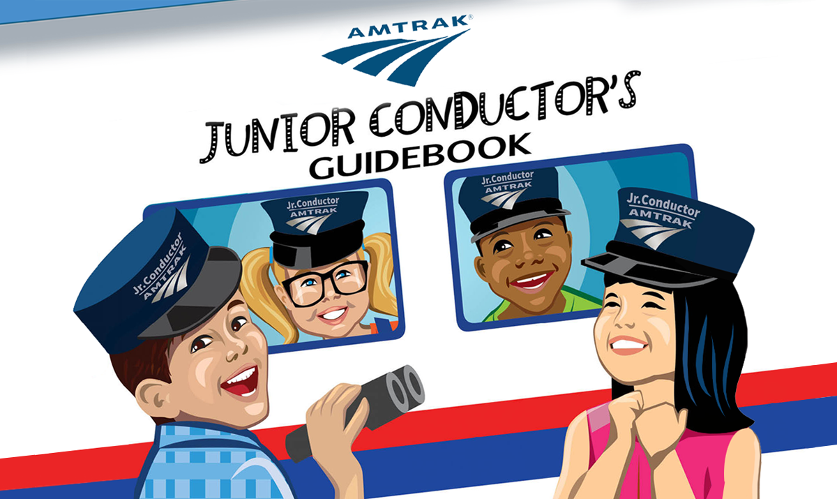 Marketing piece for Amtrak: Jr Conductor's Activity Book