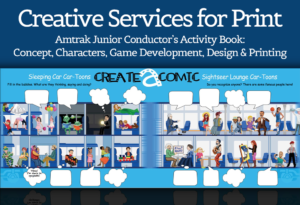 Creative Services for Print – Amtrak Junior Conductor's Activity Development