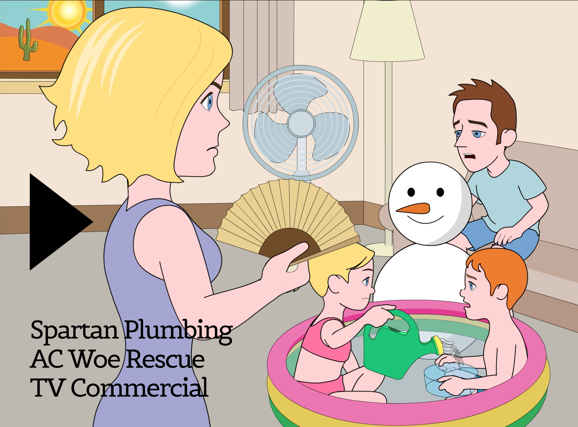 Spartan Plumbing Animated TV Commercial: Indoor Heatwave!