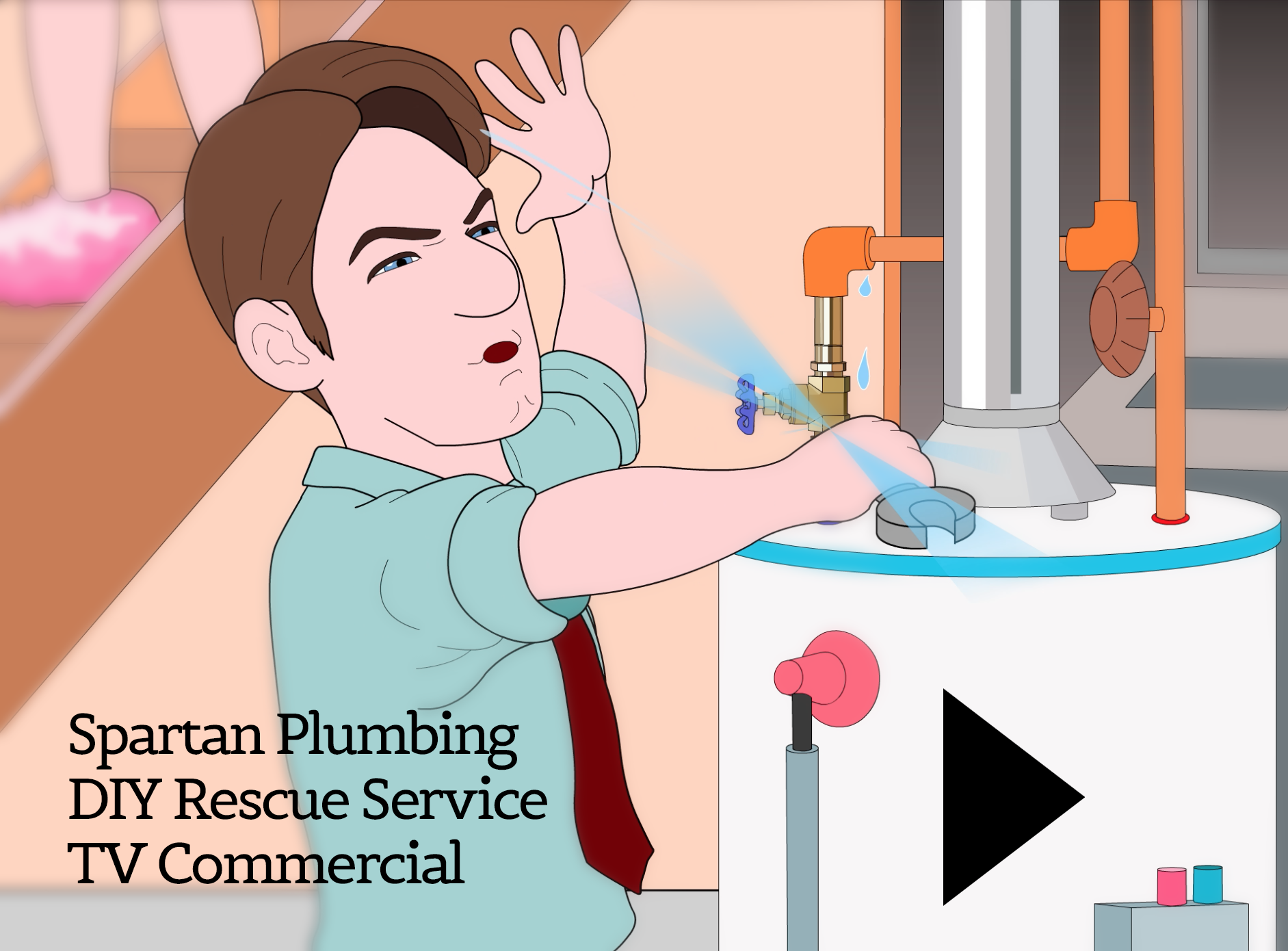 Spartan Plumbing Animated TV Commercial: DIY Woes!