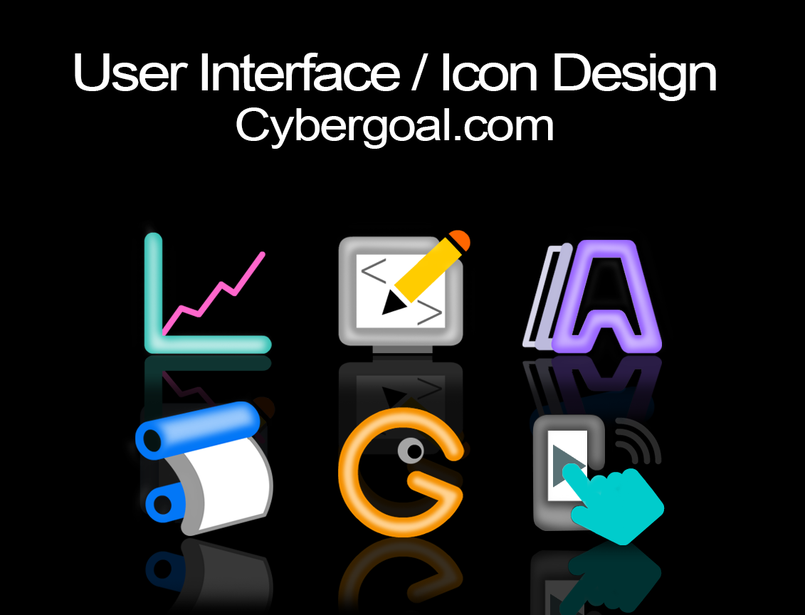 User Interface & Icon Design: Cybergoal.com