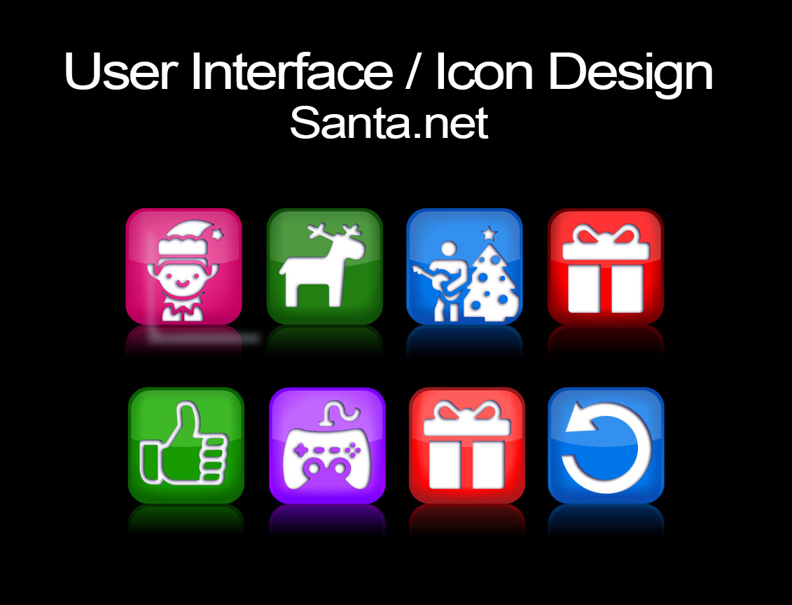 User Interface Design and Icon Design for Santa.net