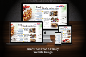 Web Design Kraft Food and Family