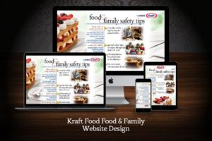 Web Design Kraft Food and Family