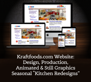 Website Design, Production, Animated, and Still Graphics for Kraftfoods.com