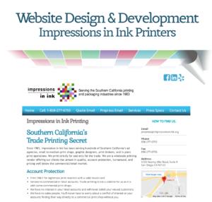 Website Design & Development: Impressions in Ink