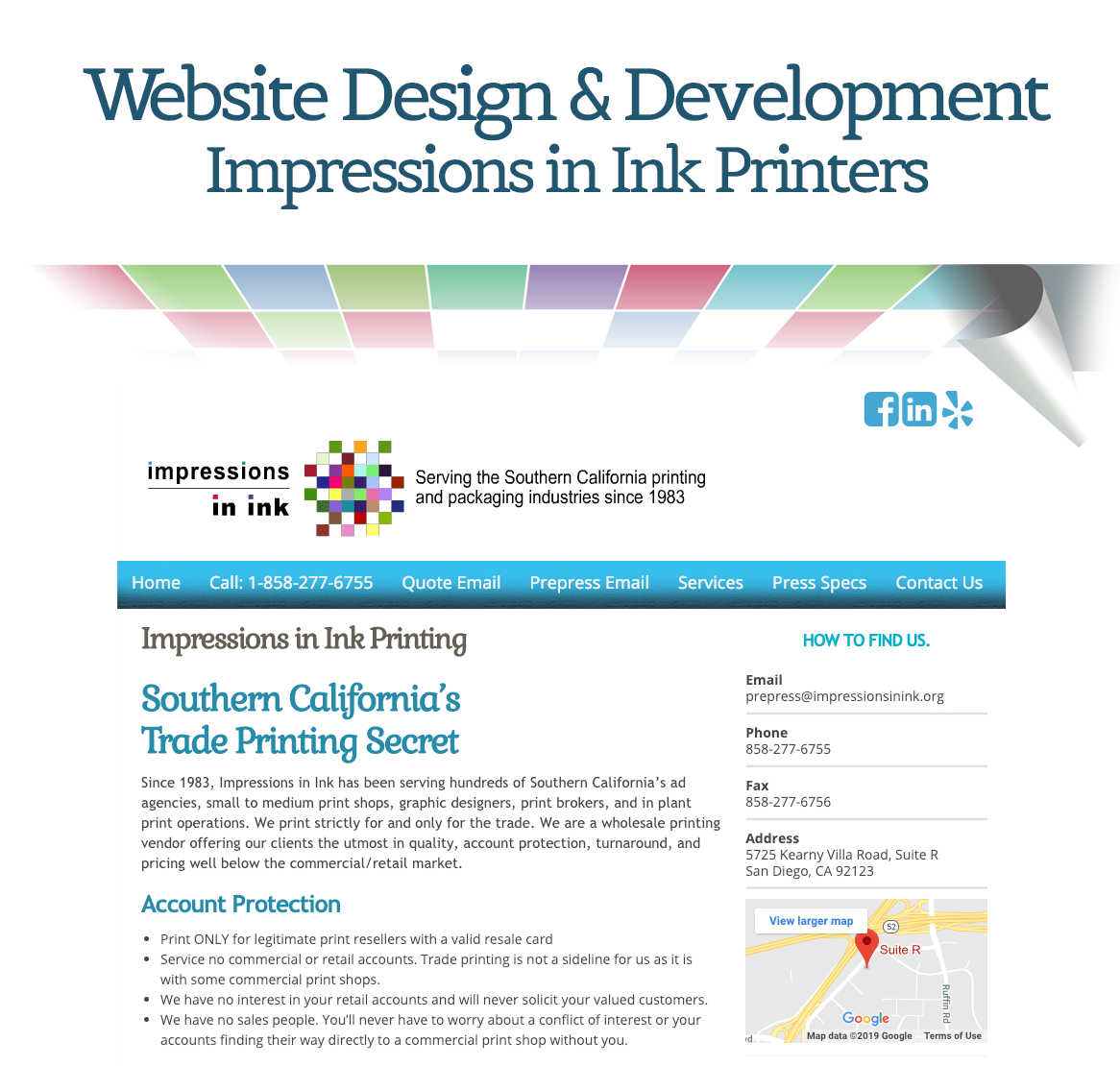 Website Design & Development: Impressions in Ink